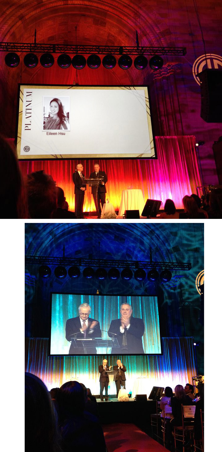 "2014 Douglas Elliman Award Show ""Ellie"" recognized Eileen Hsu achieve as one of the TOP PRODUCER of the company."