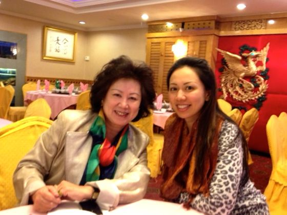 Mandarin Chinese speaking agent Eileen Hsu and her mother.